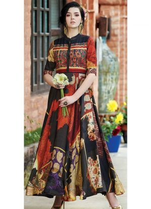 Multi Colour Cotton Indian Kurti