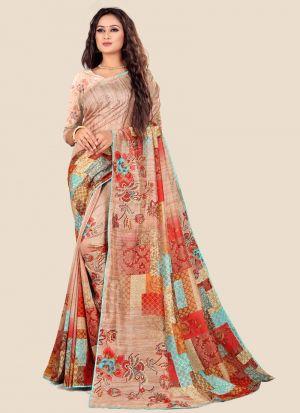 Multi Colour Katki Silk Latest Design Festive Wear Saree