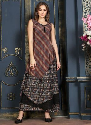 Multi Colour Muslin Cotton Kurti