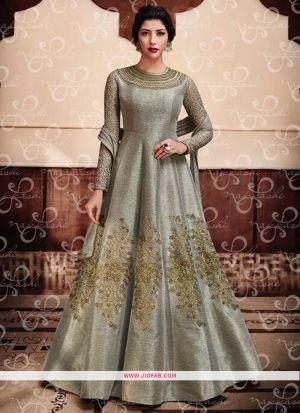 Nakkashi 11047 Grey Embroidered Designer Anarkali Salwar Suit