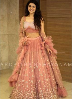 Net Peach Hit Designer Lehenga Choli