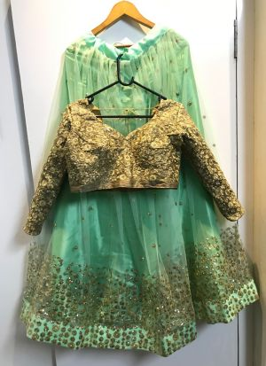 Net Pista looking for something classy lehenga choli