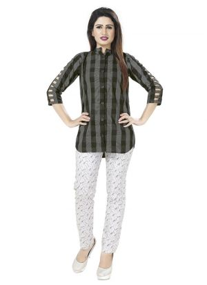 New Arrival Cotton Metallic Color Shirt For Girl