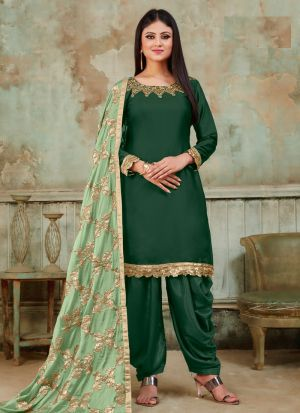 New Arrival Green Designer Patiala Suit