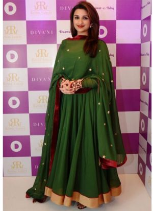 New Arrival Green Ladies Parineeti Chopra Anarkali Suit