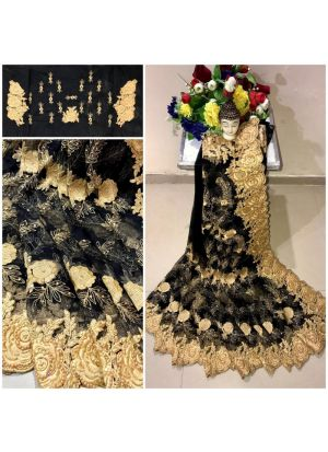 New Arrival Heavy Net Black Designer Saree