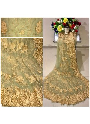 New Arrival Heavy Net Pista Designer Saree