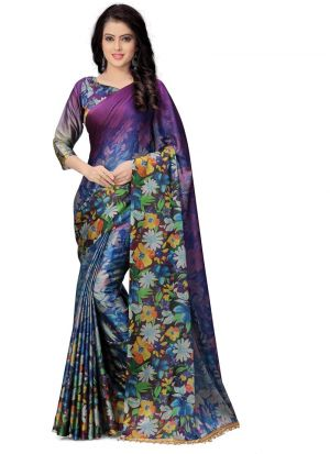 New Arrival Multi Color Party Wear Saree