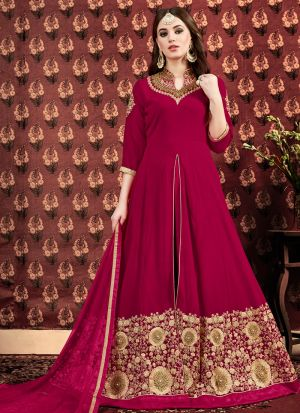 New Arrival Rani Designer Floor Length Suit
