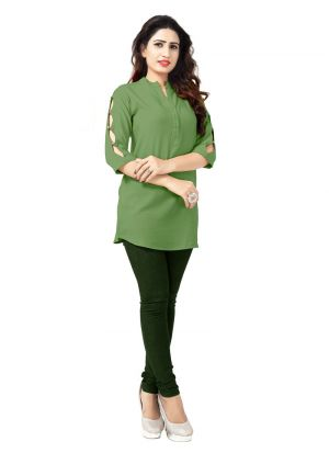 New Arrival Rayon Green Kurti Collection