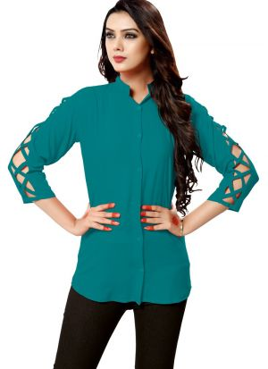 New Arrival Rayon Rama Color Shirt For Girl