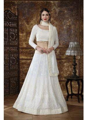New Fancy Traditional Off White Color Lehenga Choli