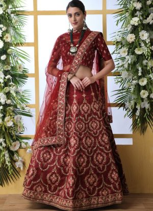 New Maroon Arrival Elegant Look Art Silk Lehenga Choli