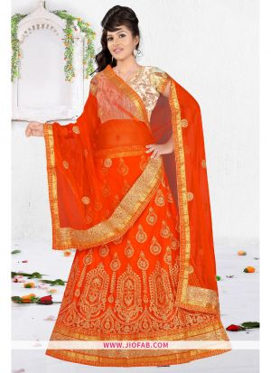 Orange Bridal Designer Chaniya Choli