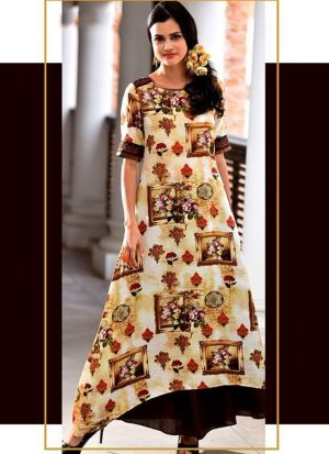 Pineapple Cotton Indian Kurti
