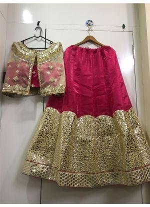 Pink Banglory Satin Hit Design Partywear Lehenga Choli
