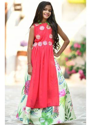 Pink Georgette Baby Girl Lehenga Choli