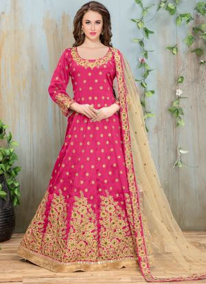 Pink Mulberry Aanaya New Design Desiner Suit