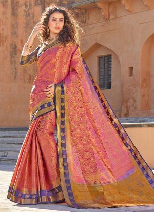 Pink Silk Indian Traditional Saree
