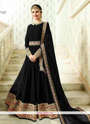Raj Mahal 7173 Black Foux Georgette Wedding Anarkali Salwar Suit