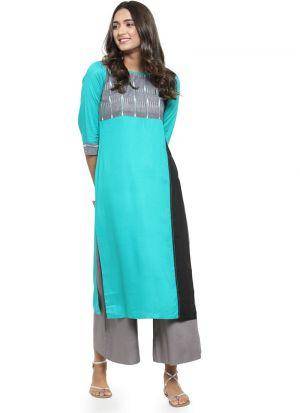 Rama Rayon Designer Kurtis For Girl