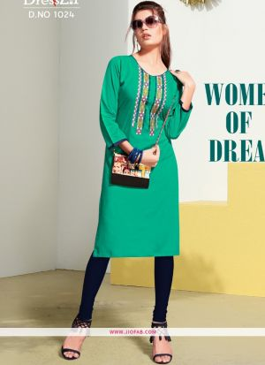 Rama Rayon Embroidered Heavy Designer kurti