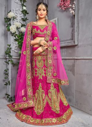 Rani Designer Wedding Lehenga Choli With Pure Silk Fabric
