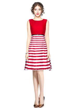 Red Short Midi Dress