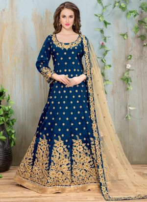 Royal Blue Mulberry Aanaya New Design Partywear Suit