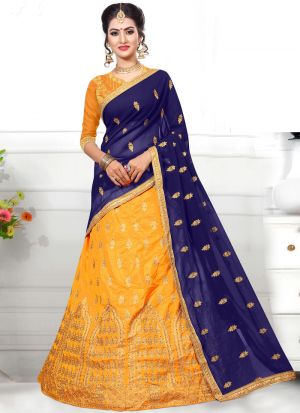 Sana Silk Mustard Wedding Designer Lehenga Choli