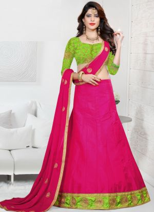 Sana Silk Rani Color Wedding Designer Lehenga Choli