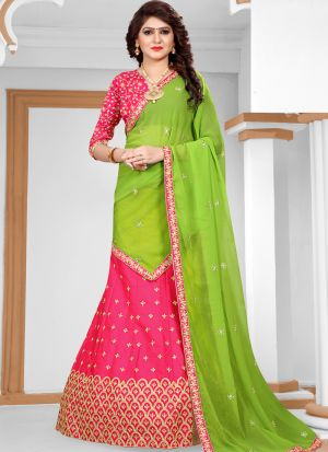 Sana Silk Rani Wedding Designer Lehenga Choli