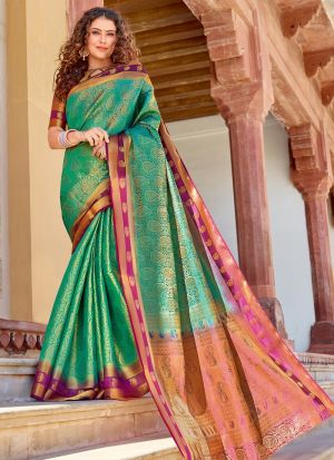 Silk Rama Indian Wear Saree