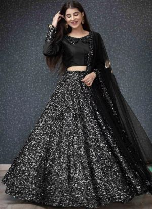 Silver Fancy Sequence Work New Arrival Lehenga Choli