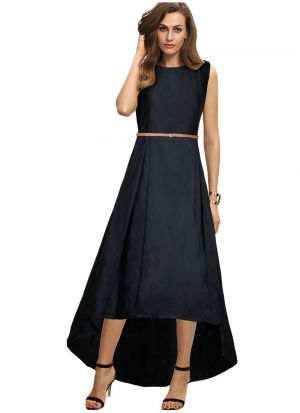 Sleeveless Black Gown