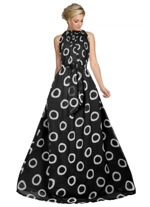 Sleevless Black Party Wear Gown