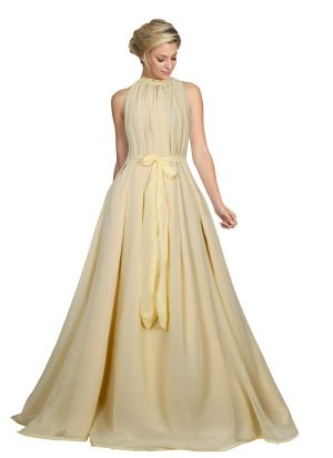 Sleevless Cream Party Wear Gown