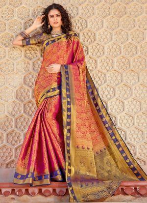 South Indian Wedding Silk Red Saree