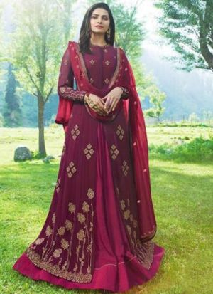 Summer Special Magenta Georgette Salwar Suit