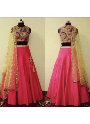 Taffeta Silk Pink looking for something classy lehenga choli