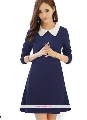 Us Polo Imported Western Wear Dress In Blue Color