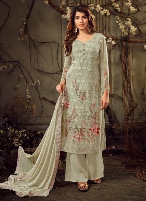 Wedding Collection Georgette Green Palazzo Suits
