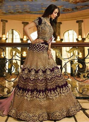 Wedding Wear Purple Bollywood Style Designer Lehenga Choli
