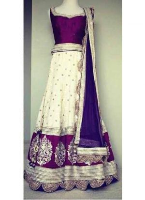 Wine Pure Georgette Indian Wedding Lehenga Choli With Nazmin Dupatta