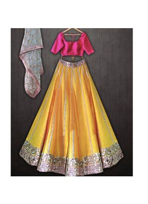 Yellow Color Lehengas For The Haldi Ceremony