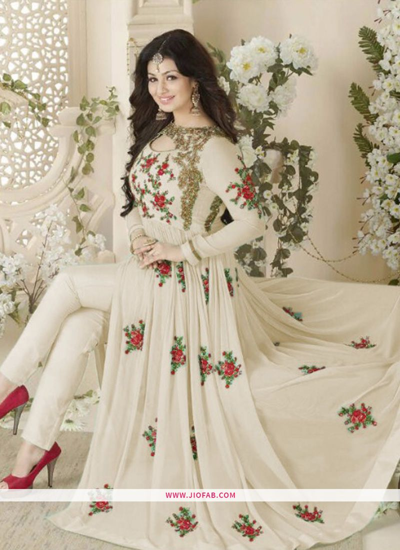 6aa239f27a Buy Ayesha Takia Embroidered Off White Designer Salwar Suit Online