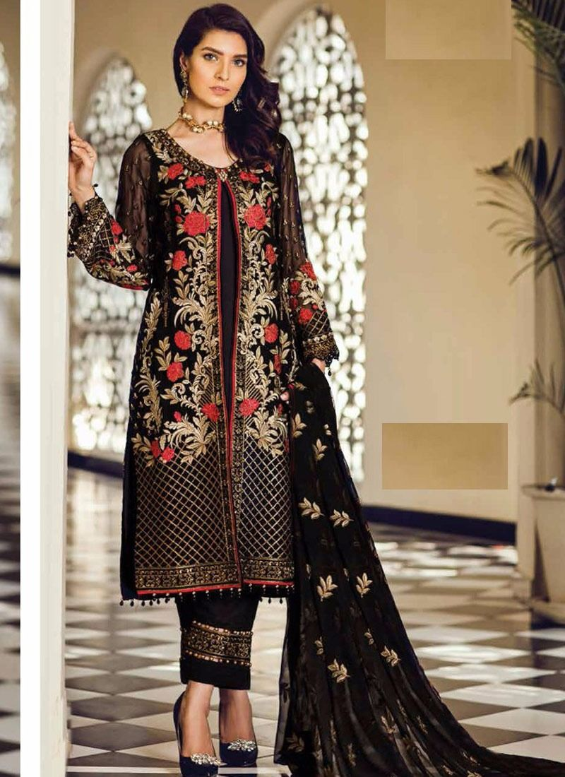 f9f9a698 Black Pakistani Dresses Online | Saddha