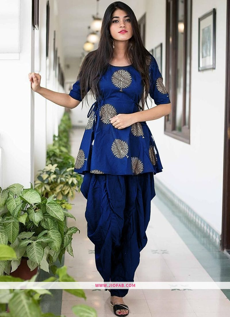 f4b1c9148d Buy Dhoti Style Palazzo Pant With Kurti Online