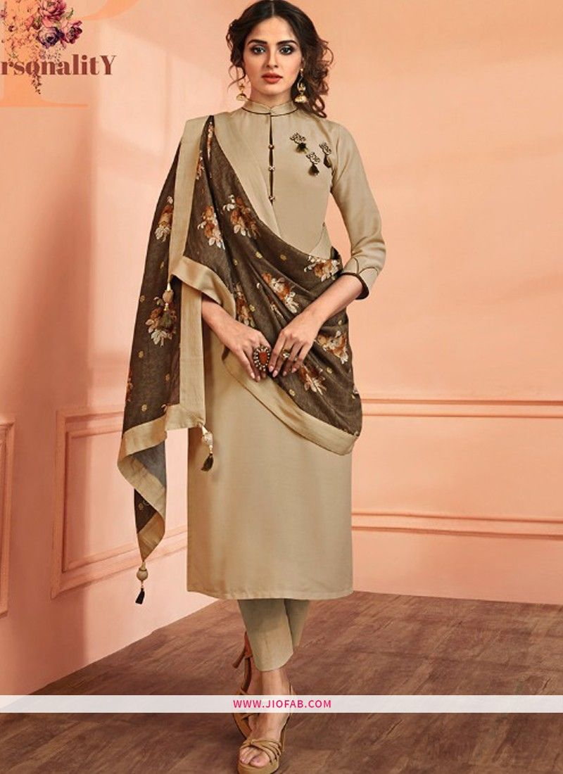 Chiku Maslin Plain Designer Salwar Suit