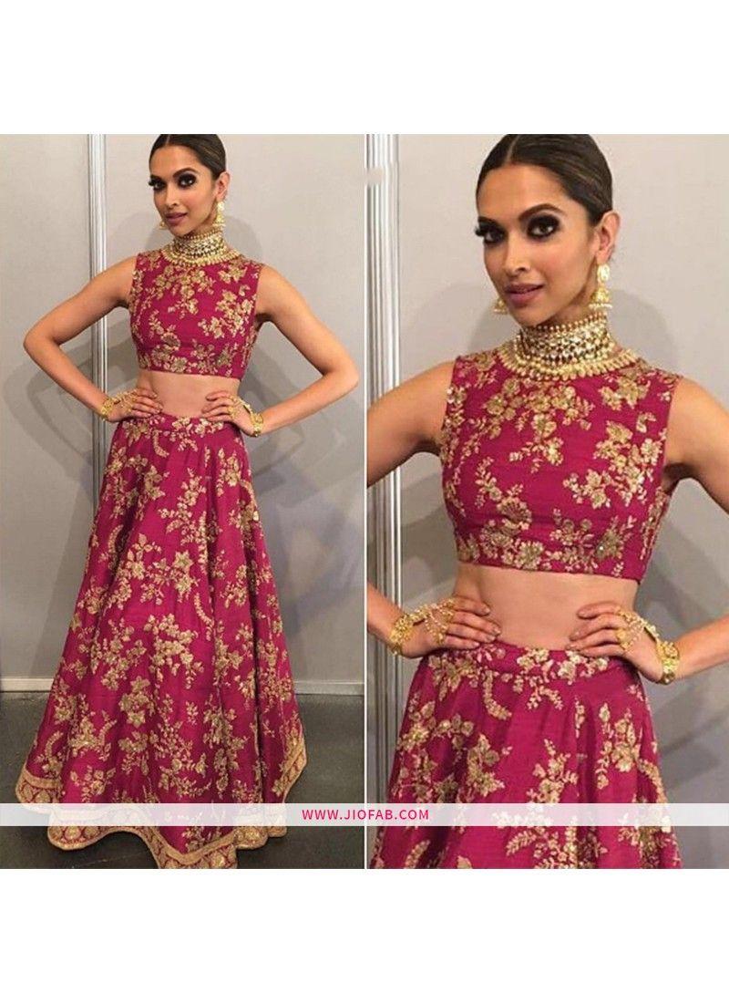AB-22 | Buy Deepika Padukone Pink Heavy Embroidery ...